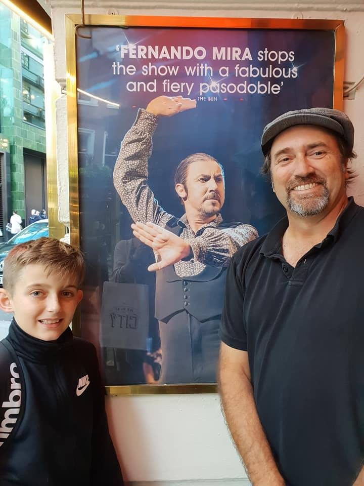 Max and Andrew at Piccadilly Theatre 2018