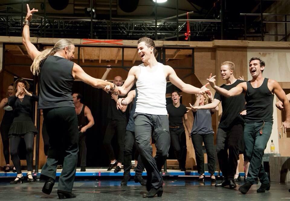 Strictly Ballroom rehearsals Carriage Works Sydney 2014