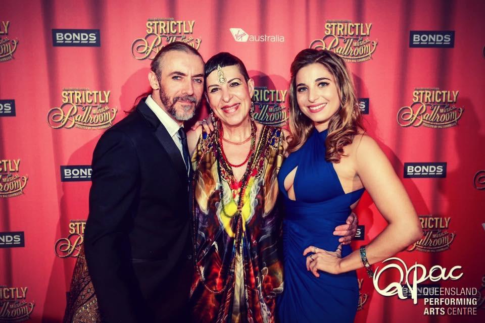 Fernando with Natalie Gamsu & Phoebe Panaretos Strictly Ballroom Opening night 2015