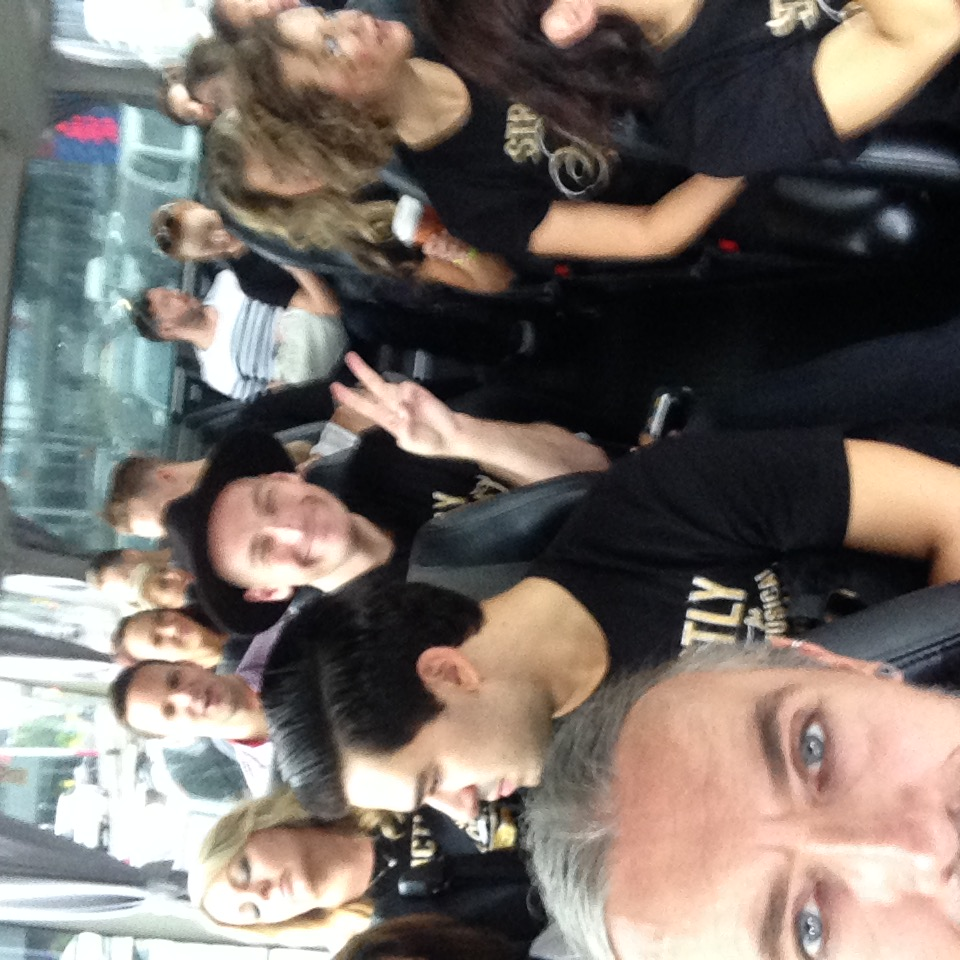On the way to a Strictly Ballroom media event 2015