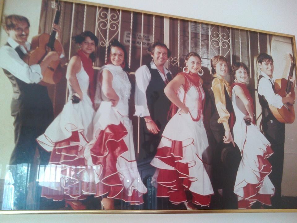 80s! from left to right, Tito Rubio, Connie, Conchita Gonzales, Manolo _El Chiclanero_, Ana Romero,