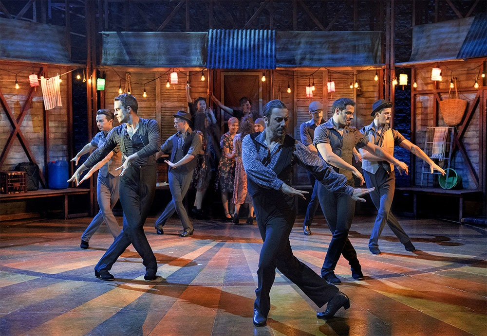 Strictly Ballroom Toledo scene at the Yorkshire Playhouse Theatre
