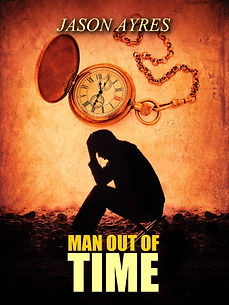 Book cover of time travel novel, Man Out Of Time
