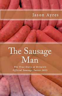 Book cover of humorous diary book, The Sausage Man