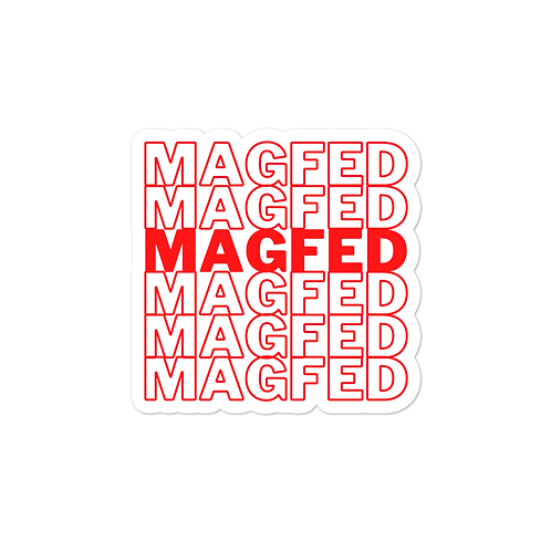 MagFed TY Bubble-free stickers