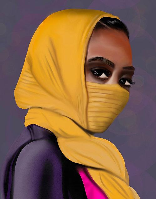 Yellow Mask Print