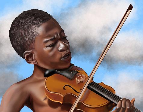 The Violinist Print