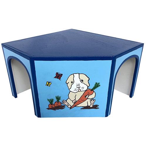 Eckhaus Meerschweinchen blau