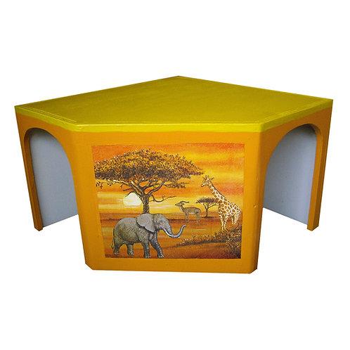 Eckhaus Afrika gelb