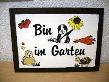 Bin im Garten klein