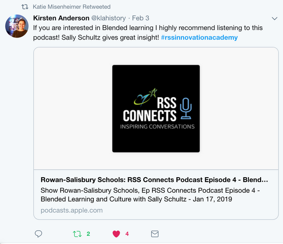 Podcast from Sally Schultz on blended learning