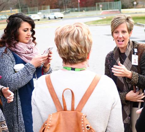 Crystal Merck, lead instructional coach, talking through classroom visits.