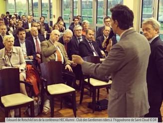Le Président Edouard de Rotschild au Club