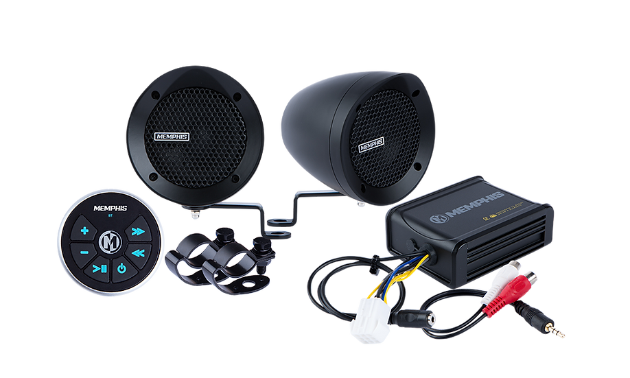 MXABMB2BT - 2 Black Bullet Style Powersports Speaker Kit With Bluetooth
