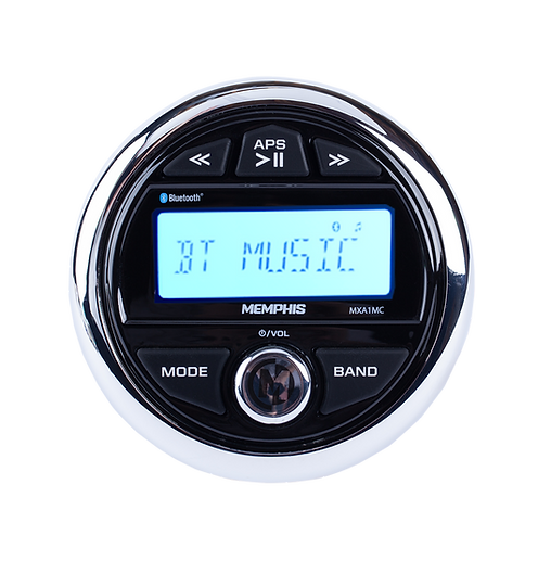 MXA1MC Guage style media ceter allows you to take ultimate control of your powersports syste. Bluetooth, AM/FM, USB and more in one stylish package