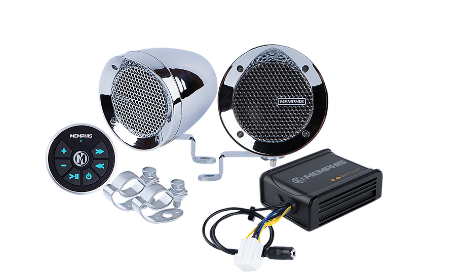 MXABMC2BT - 2 Chrome Bullet Style Powersports Speaker Kit With Bluetooth