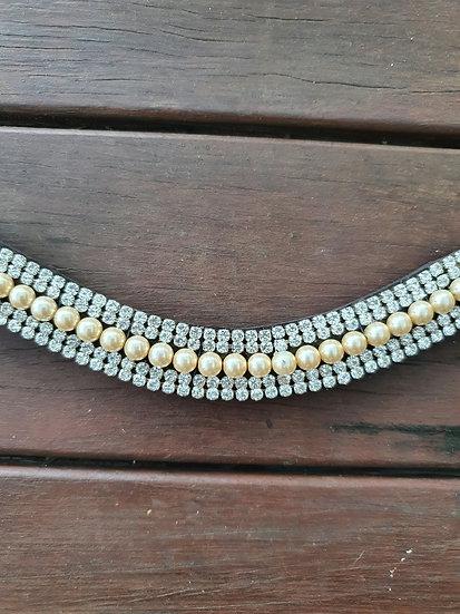 Gold Pearl Browband