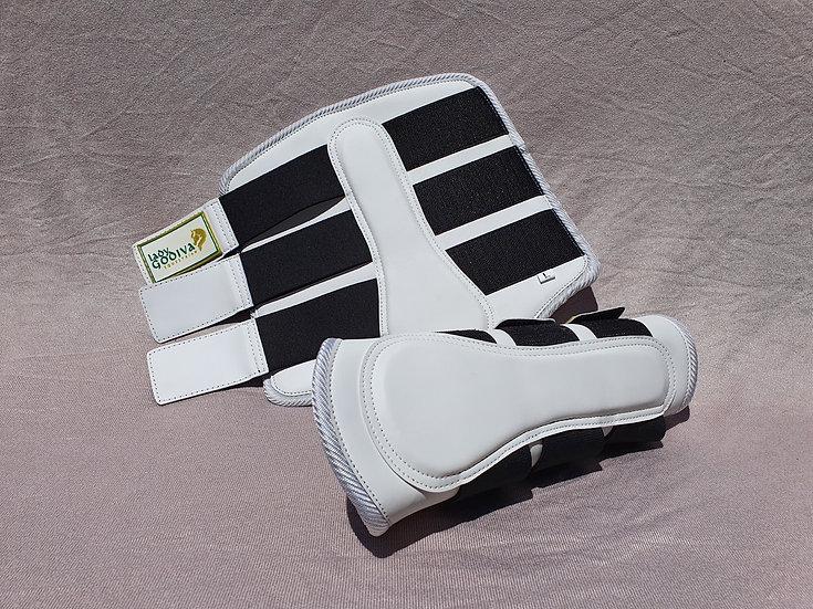 White Brushing  Boots