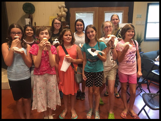 Girls With Pens at the Writing Barn, Summer 2017