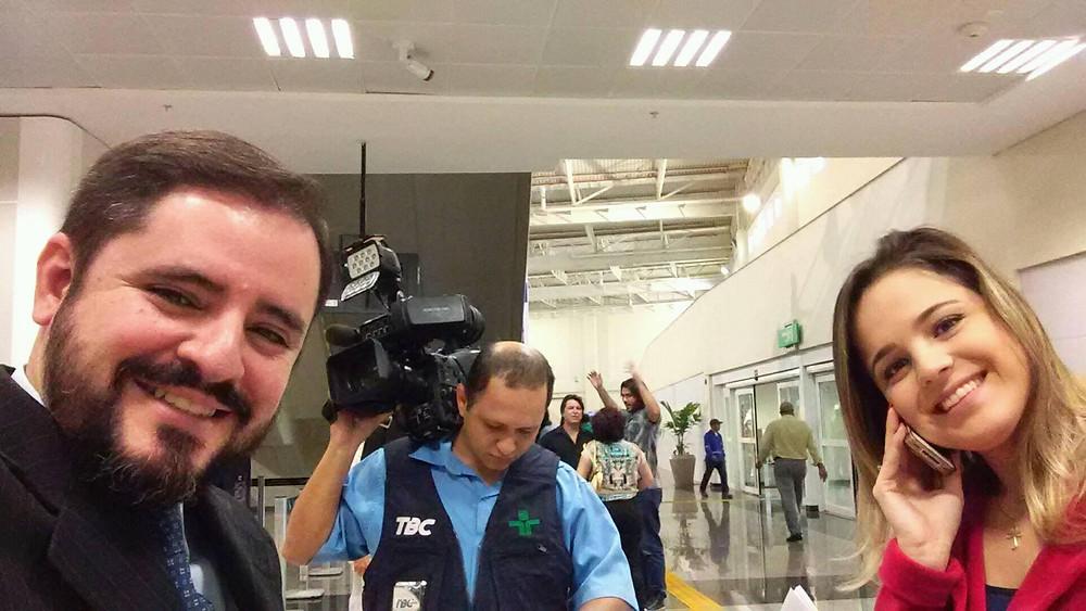 Entrevista à TBC sobre o novo Terminal de Passageiros do Aeroporto de Goiânia