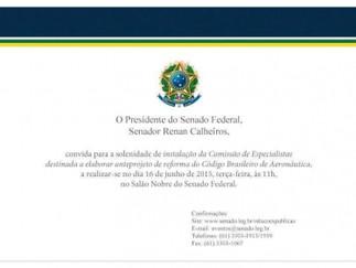 Senate meets Vicentinho request and install a commission to reform the Brazilian Aeronautics Code