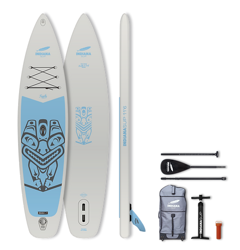 Indiana 11'6 Family Pack GREY with 3-piece carbon/fibreglass/composite Paddle