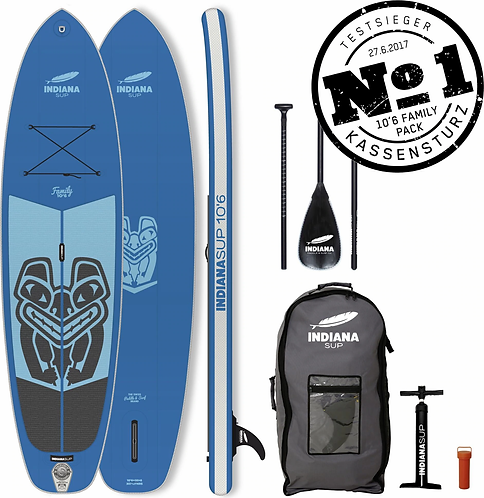 Indiana 10'6 Family Pack BLUE with 3-piece Fibre/Composite Paddle