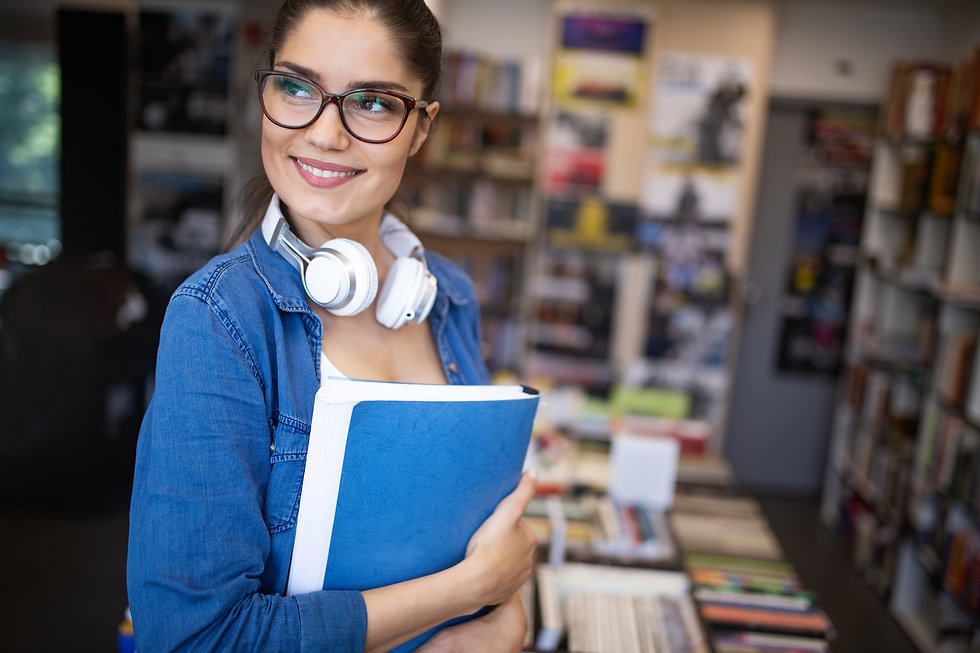 beautiful-student-girl-learning-in-a-lib