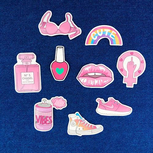 girl power stickers