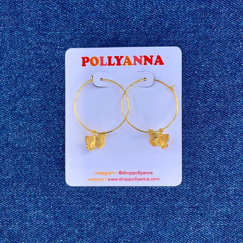 butterfly hoops (gold)