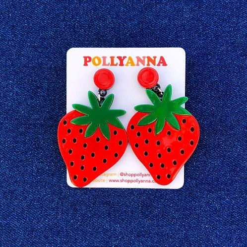 strawberry shortcake earrings