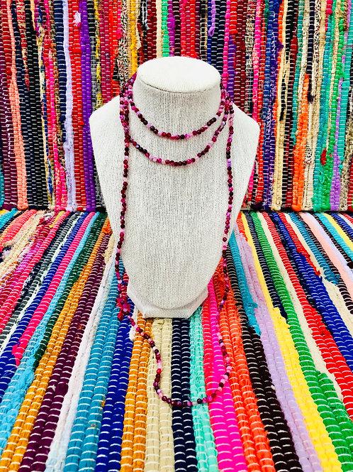 raspberry wrap necklace
