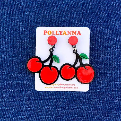 cha cha cherry earrings