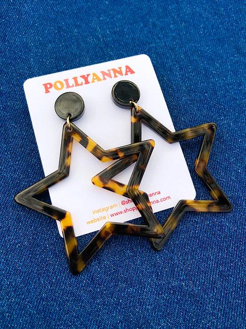rising star earrings (tortoisehell)