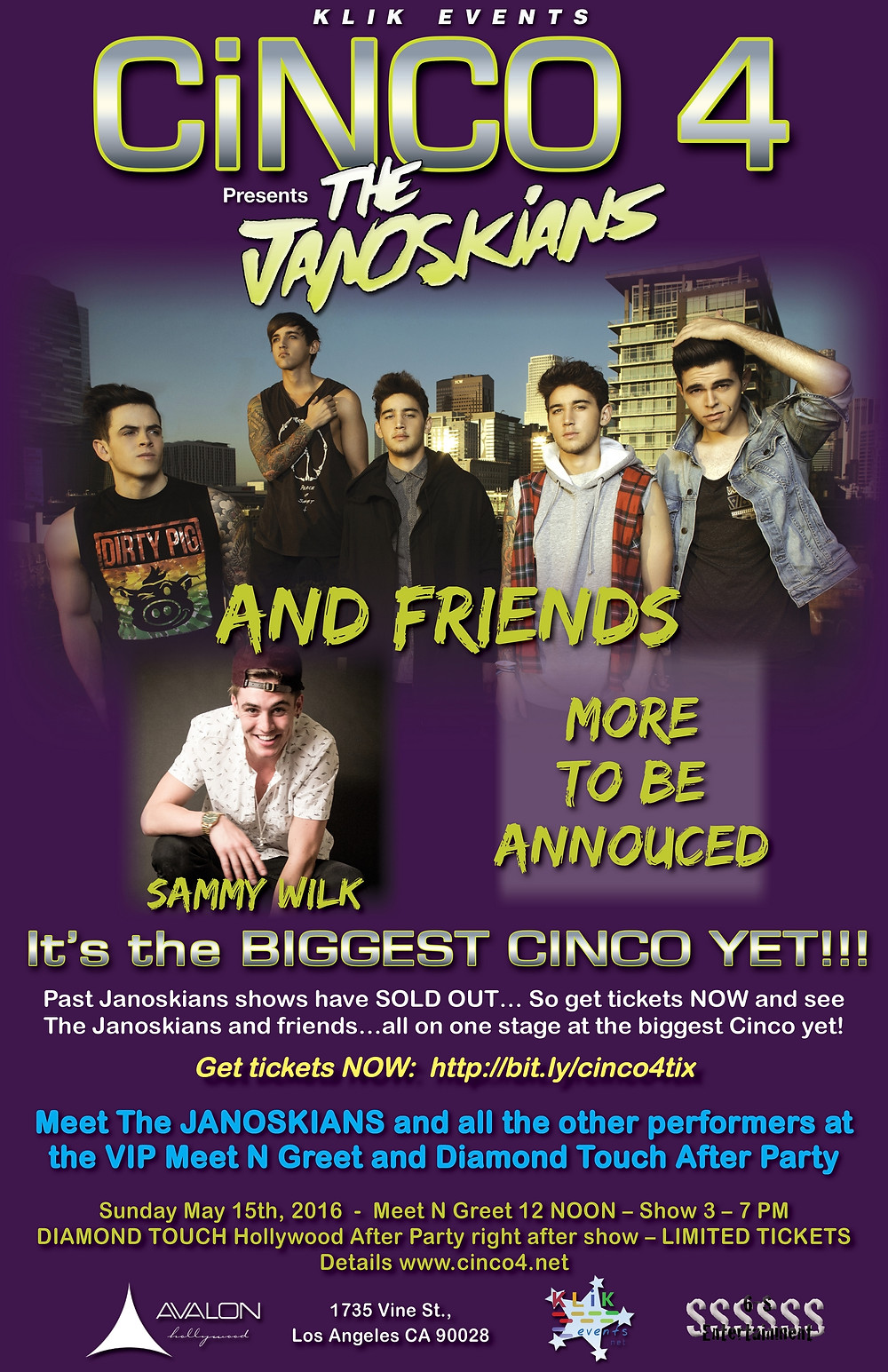 Cinco 4 with The JANOISKIANS and Friends