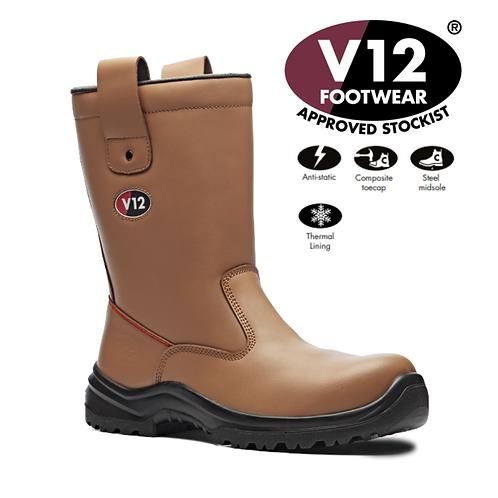 V12 Polar STS Tan S1P SRA Fur Lined Rigger Boot V6816.01