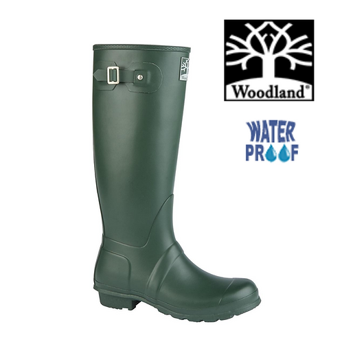 WOODLAND Regular Green Rubber Unisex Waterproof  Wellington W259E