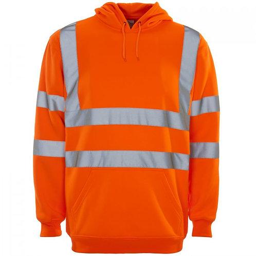 Supertouch Hi Vis Orange Hooded Sweatshirt H69