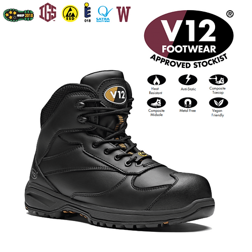V12 Octane IGS Black S3 HRO SRC Womens Hiker Vegan Friendly V1925