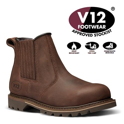 V12 Rawhide Brown Oiled Leather SBP Dealer Boots V1231