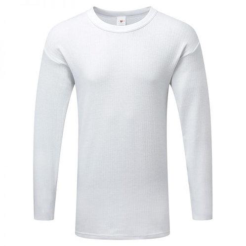 Fort Thermal Long Sleeve Vest White/Denim 801