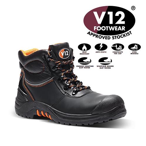 V12 Endura 11 Black Tough Comfort S3 Boot VR657