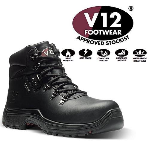 V12 Thunder IGS Black S3 Waterproof Hiker Safety Boots V1215.01
