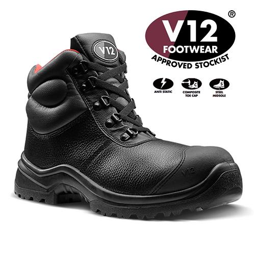 V12 Rhino STS Black S3 SRC Scuff Cap Boot V6863.01