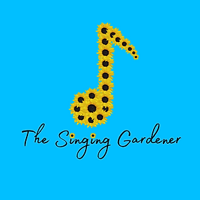 Singing Gardener Logo - Sunflowers in the shape of a music note