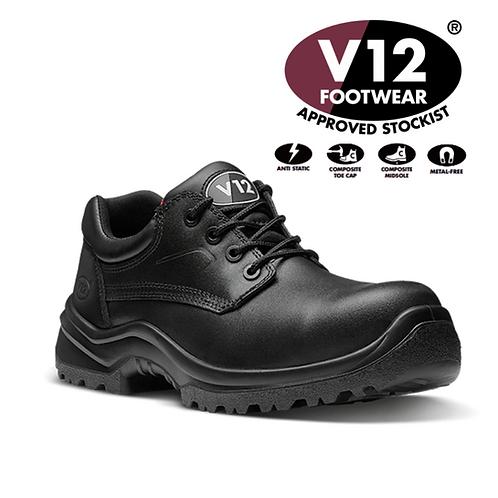 V12 Oxen STS Black S3 SRC Derby Shoe V6411.01
