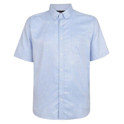 Espionage Palm Print Oxford Short Sleeve Shirt XL Sizes SH327