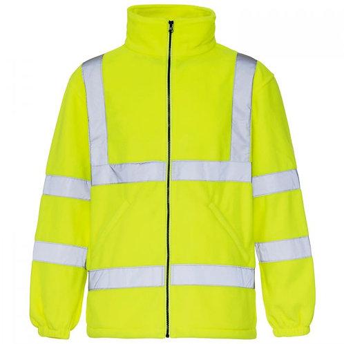 Supertouch Hi Vis Yellow Fleece Jacket EN 471 Class 3:2  H43