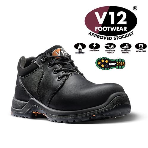 V12 Challenger IGS Black S3 SRC HRO Women's Shoe V1710