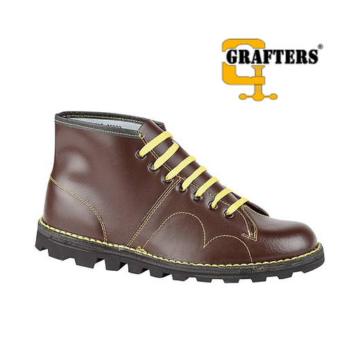 GRAFTERS The Original Retro Monkey Boot Wine Coated B430BD